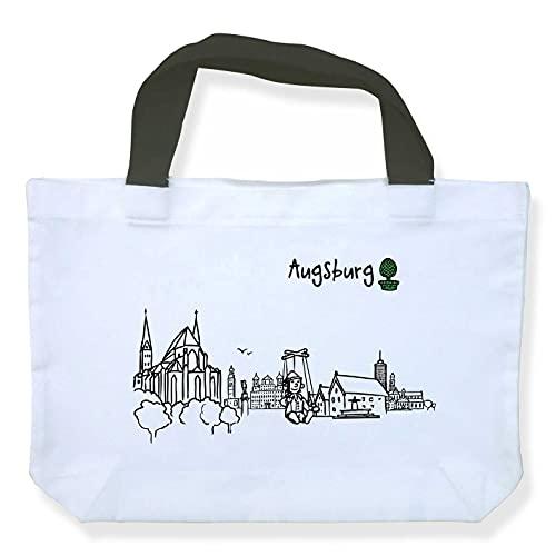 Einkaufstasche Skyline Augsburg - als Geschenk für Augsburger & Fans Augsburgs oder als Souvenir - die stadtmeister