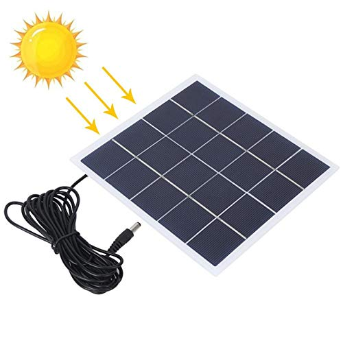 DAUERHAFT Panel de Cargador Solar de energía de 4W 5V Panel de Cargador de energía Solar portátil para Todos los pequeños electrodomésticos para Luces del hogar