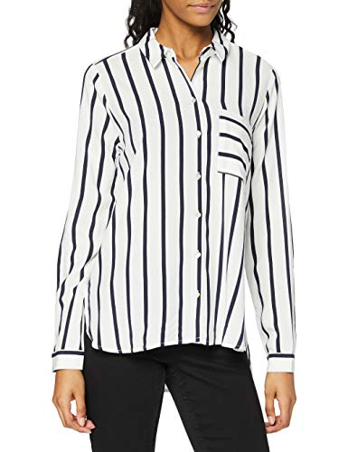 Only Onlsugar L/s Shirt Noos Wvn Blusa, Multicolor (Cloud Dancer Stripes: Night Sky Stripes), 38 (Talla del Fabricante: 36) para Mujer