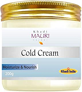Khadi Mauri Herbal Cold Cream - Deep Moisturisation & Nourishment, Soft, Supply & Smooth Skin - - 200 g