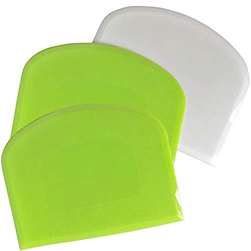 Grizef 3 Stück Schüsselschaber Teigschaber, Plastikteigschneider und Schaber Flexibler Schneider Mehrzweck-Küchenutensilien für die Küche, Backen