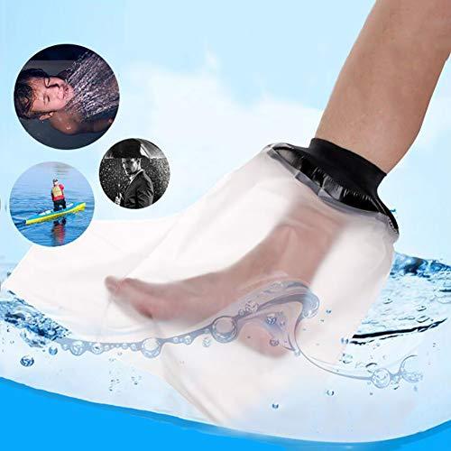 WHYTT Gipsschutz Wasserdicht Bein, Duschüberzug Fuß Beinschutz für das Halbe Bein beim Baden, Wasserdichter Beinprotektor für Gips-und Verbandschutz beim bei Dusche & Bad Erwachsene (Halbes Bein)