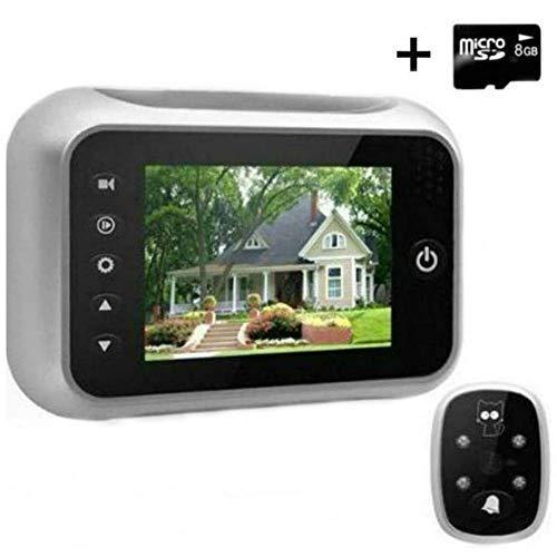 Winnes Digitale deur kijkgaatje kijker, 3,5 inch LCD-scherm deur kijkers met 8GB SD-kaart, hoge pixel kijkgaatje camera met nachtzicht groothoek + video-opname + foto deurbel Home Security Camera