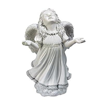 Angel Figurines - In God's Grace Guardian Angel Statue - Garden Angel Figure