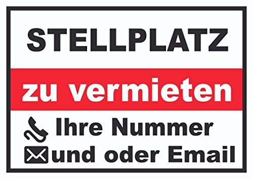 HB-Druck Stellplatz zu vermieten Schild A3 (297x420mm)