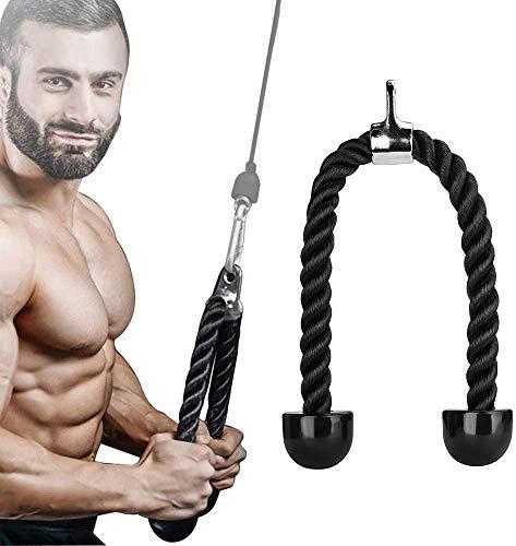 Cuerda para Tríceps, Cuerda de Bíceps Resistente para Máquinas Multigimnasio, Fácil de Agarrar y Antideslizante, para Tríceps, espalda, Hombros y Abdomen