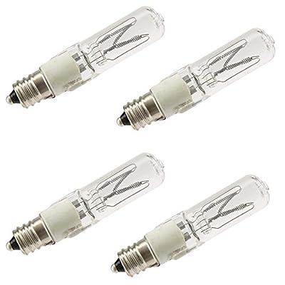 Industrial Performance Q250/CL/E12 130V, 250 Watt, T4, Candelabra Screw (E12) Base Quartz Light Bulb (4 Bulbs)