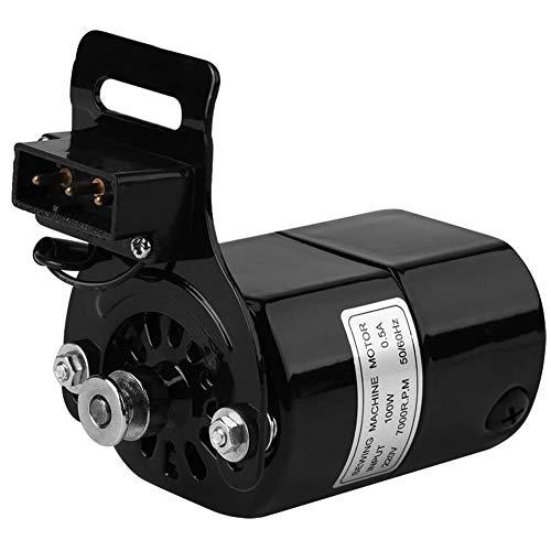 Nähmaschinenmotor, 220V 100W Startseite Maschinenteil Zubehör 7000 U/Min K-Halterung 0,5 AMP,Schwarz