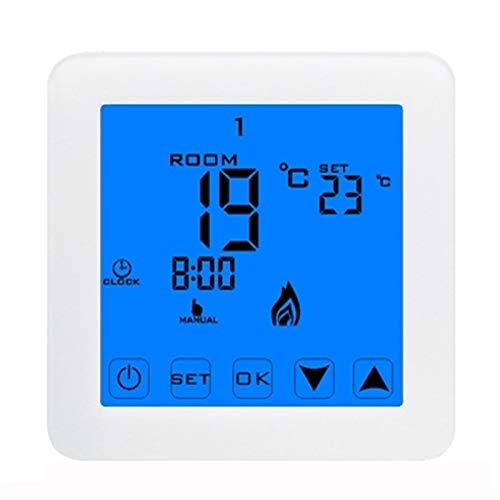Controladores de temperatura de visualización digital Controlador de temperatura, controlador de termostato Nuevo termorregulador LCD Térmago de pantalla táctil Termostato Calefacción de piso eléctric