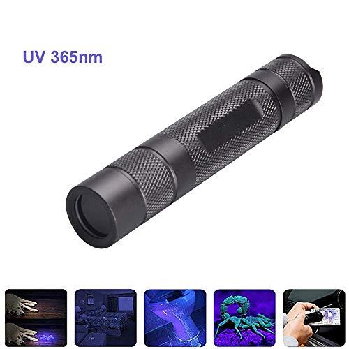 Torcia UV 365nm, BESTSUN Luce Ultravioletta Lampada UV Light portatile per rilevamento di contraffazioni Verifica di documenti Fotografia e identificazione del liquido corporeo