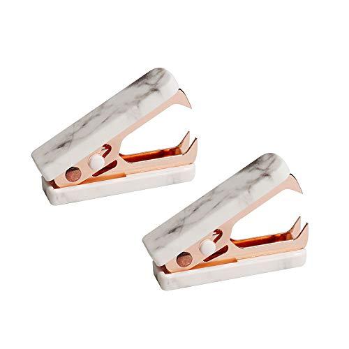 Marble Staple Remover Mini Rose Gold Staple Remover Magnetic Heavy Duty Staple Remover for Home Office(2 Packs)