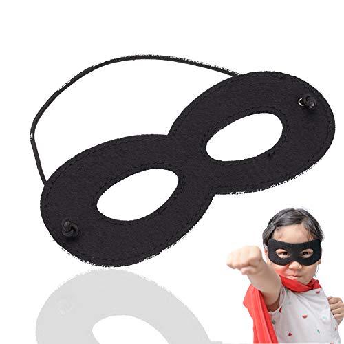 TK Gruppe Timo Klingler Bandit Augenmaske schwarz, Einbrecher Maske für Kinder & Erwachsene an Fasching & Karneval (1x)