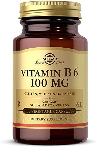Solgar Vitamina B6 100 mg Cápsulas vegetales - Envase de 100 (E3110)
