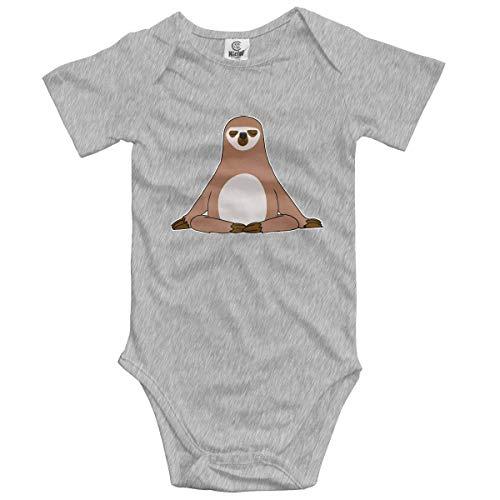 Lplpol Buddha Sloth Cotton Baby Onesies Bodysuit Jumpsuit for Unisex Baby Boys Girls, 6-9 Months, GK914