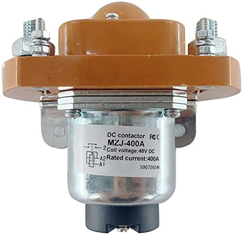 ECUTEE Universal New Contactor Solenoid MZJ-400A for Heavy Duty Golf Cart, 48Volt 400 Amp Upgrade
