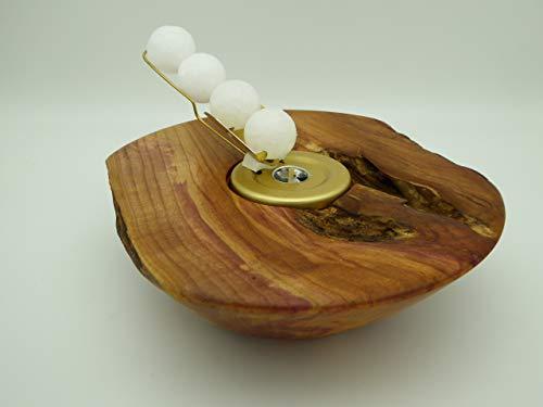 Kerzenhalter Kerze Wachskugeln Pflaume, Pflaumen Holz Edelholz Teelichthalter