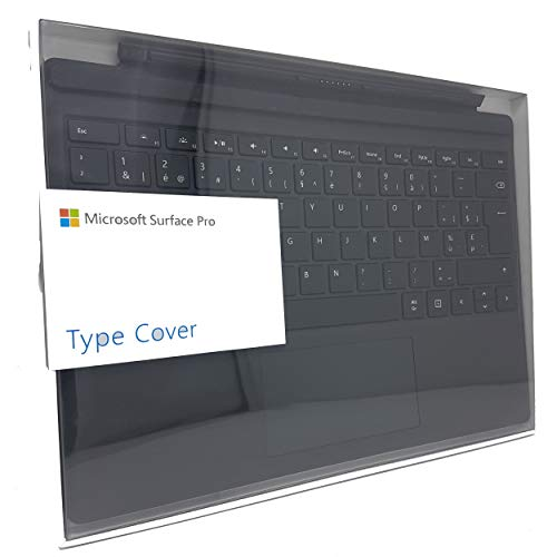 Microsoft QC7-00028 Type Cover Clavier Belge - AZERTY pour Surface Pro 3, Surface Pro 4 et Surface Pro (2015) – Noir