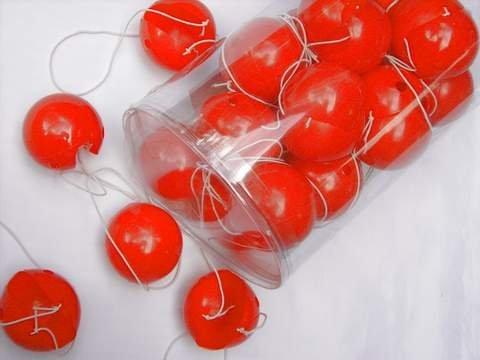 Clown-Plastiknase, 24 Stück, rot -Clowns-Nase
