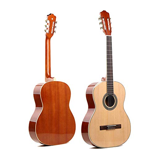 North King - Guitarra acústica clásica de 50 Pulgadas para Adulto, diseño de pícea