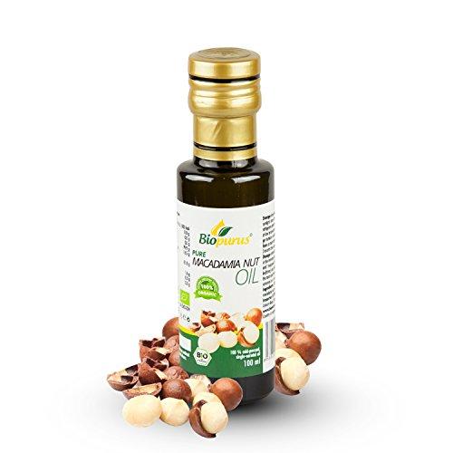 Biopurus Huile de noix de macadamia pressée à froid certifiée bio 100 ml