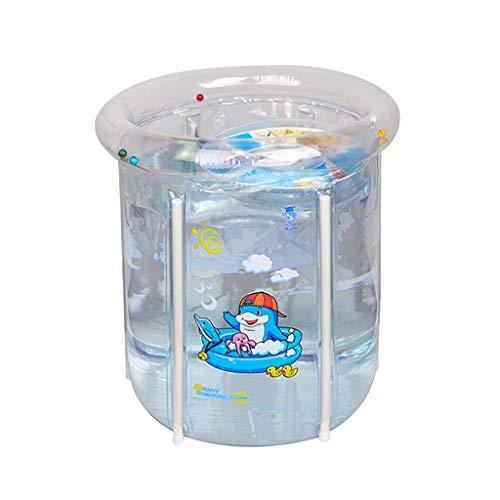 Yowablo Aufblasbare PVC-Badewanne für Kinder Hochtemperaturbeständiger Pool (70 x 70 x 58cm,Transparent)