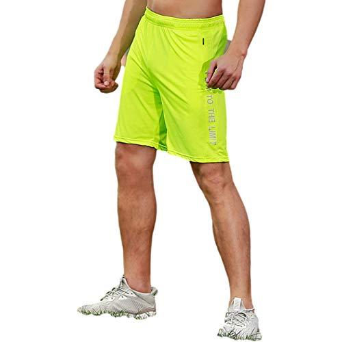 Shorts Deportivos de Verano para Hombre, elásticos y de Secado rápido, versátiles Pantalones Cortos Deportivos para Entrenar, Correr y Trabajar, con Bolsillos con Cremallera XXL