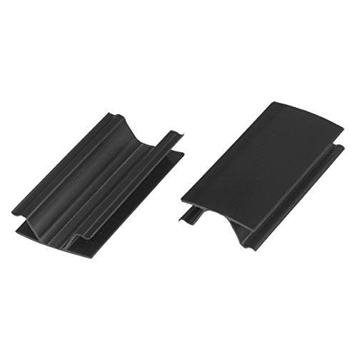 HOLZBRINK Eckverbindung Sockelblende Sockelleiste für Einbauküche 150mm Höhe SCHWARZ Hochglanz - HBK15