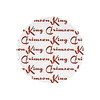 King crimson キング・クリムゾン マウスパッド丸いマウスパッド20cm おしゃれ 柔軟 かわいい ゴム製裏面 ゲーミングマウスパッド PC ラップトップ ノートパソコン オフィス用 丸いデスクマット 滑り止め 耐久性が良い 1 PCS 2PCS 4PCS