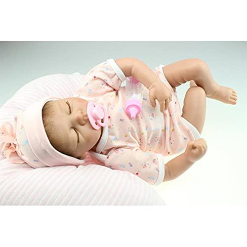 ALLWIN Reborn Baby Dolls Niñas 22 Pulgadas Vinilo De Silicona Suave Real Life 55Cm Juguetes para Bebés Recién Nacidos Lindos Hechos A Mano para Mayores De 3 Años Set De Regalo para Niños