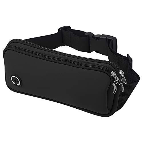 OHENNY Running Belt Travel Money Belt,Leica & Bounce Free Fanny Pack, Waist Pack Workout Belt Hip Packs Running Pouch Bag for Women and Men