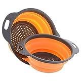 Plegable de silicona colador no tóxico vegetal de frutas cesto de lavado Tamiz con las manijas plegable herramienta de la cocina al azar