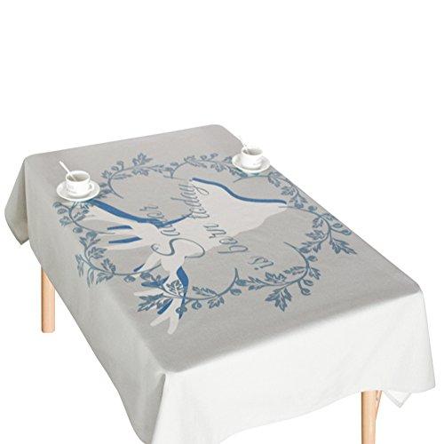 Coton Lin Nappe, Housse De Table Pour Pique-nique, Dîner De Cuisine à Domicile Nappes Pour Tables Rectangulaires-B 140x220cm(55x87inch)