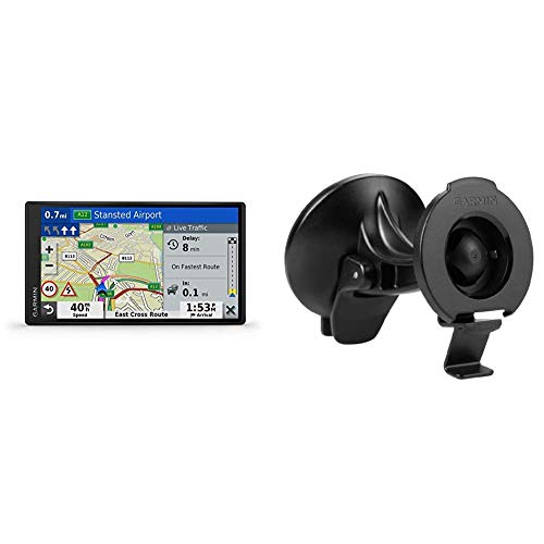 Garmin DriveSmart 65 MT-D EU Navi - extragroßes Touch-Display, 3D-Navigationskarten und Live-Traffic via DAB+ & Saugnapfhalterung