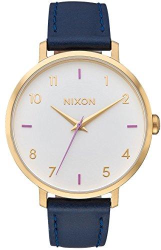 Nixon dames analoog kwarts horloge met lederen armband A1091151-00