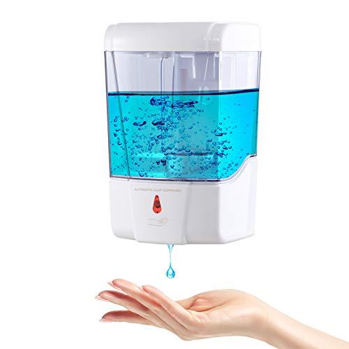 Plussen Automatic Soap Dispenser Wall Mounted, Touchless Hand Sanitizer Dispenser 600ml/20oz,...