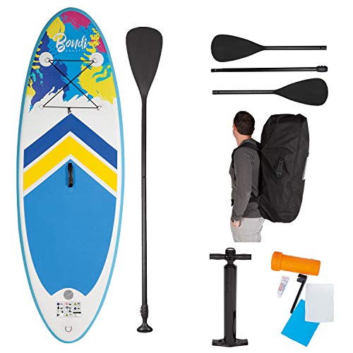 John 52500 Bondi Aquatic Kinder SUP Board Set Stand Up Paddeling, Mehrfarbig