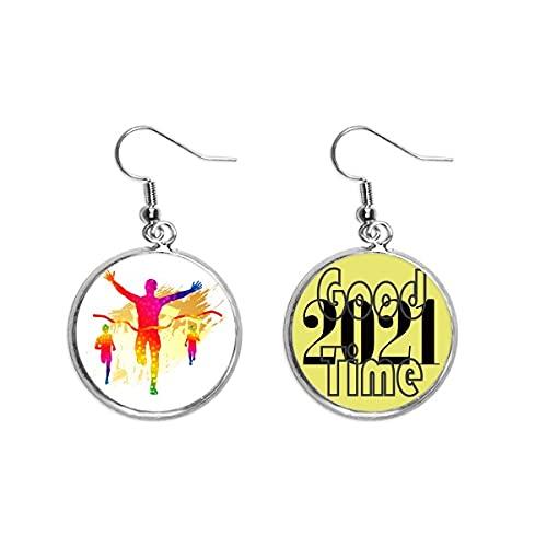Jugador de fútbol Goal Cheer Pattern Pendientes Ear Pendants Jewelry 2021 Buena suerte