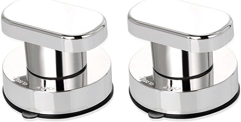 Tingz 2 Pcs Fuerte Ventosa Tira de Manijas Fuerte Manija de Ventosa de Tirador Cuarto de baño Cocina Puertas Cristal Mano de baño Tirones de la Puerta Tirador