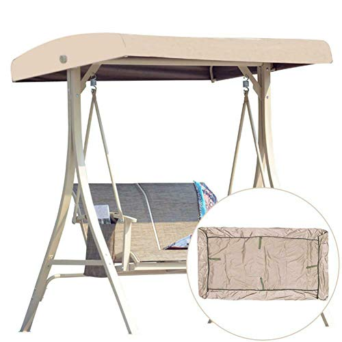 Cubierta superior de repuesto para toldo de patio, impermeable, protección UV, cubierta superior de columpio, cubierta de repuesto impermeable para exteriores, para asientos de jardín (marrón)