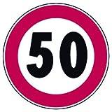 Targo timbri 795030 Segnali Stradali Divieto, Limite Velocita 50 Km/H