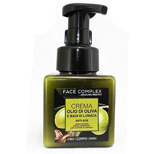 Face complex crema antiedad con aceite de oliva y baba de caracol rostro/cuerpo/manos