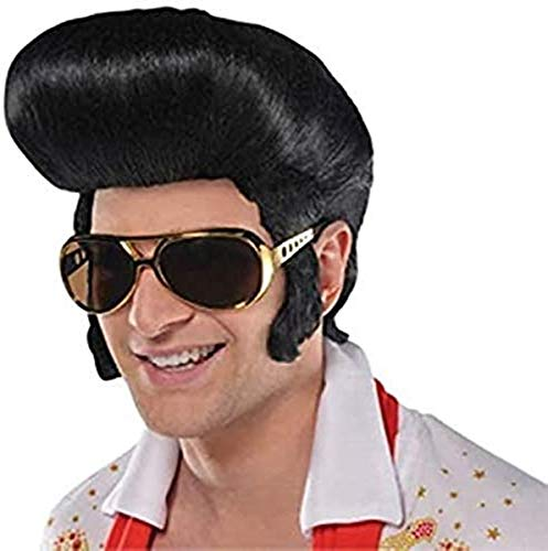 AMSCAN Rock and Roll Wig Halloween Costume Accessories, Black, One...