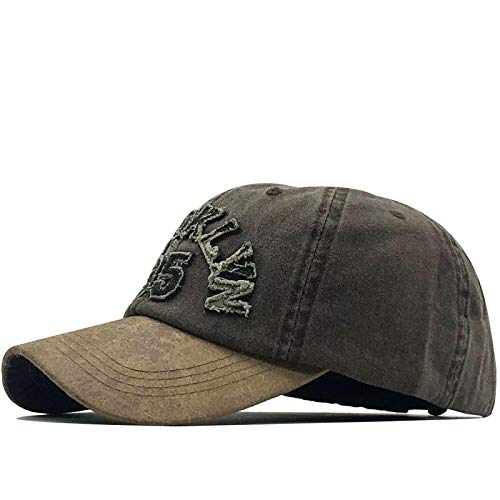 Baseball Kappe Snapback Cap Hot Retro Baseball Caps Hüte Für MännerMarke Frauen Snapback Caps Washed Bone Männer Hut Buchstabe Black Cap 56-61Cm Kaffee