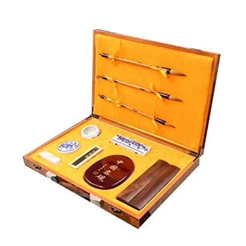Hoogwaardige kalligrafiepenseel voor het schrijven van schilderijenset, penseel met penseel, traditionele tekening, doos kalligrafie-set