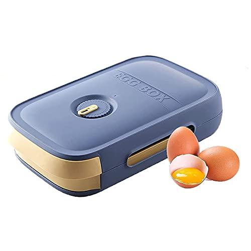 Huevo titular para el refrigerador, huevo plástico contenedor de almacenamiento para el refrigerador (azul)