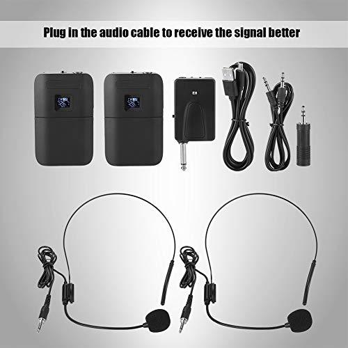 garsent Sistema de micrófono inalámbrico, VHF Micrófono de Clip de ...