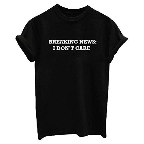 YITAN Women Casual Summer Tee Shirt Street Junior T-Shirts Tops Black Medium