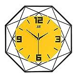 qwertyuio Relojes De Pared para Sala De Estar Relojes De Pared Esqueletizados Sin Marco, Reloj Silencioso Sin Tictac...