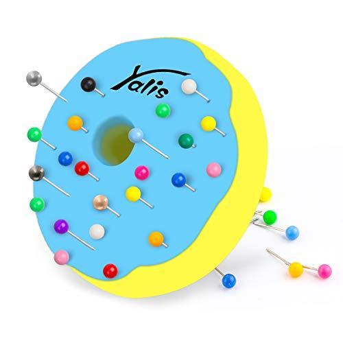 Mapamundi Tacks - Alfileres de plástico para marcar cuentas de 1/8', 10 colores surtidos, 600 unidades