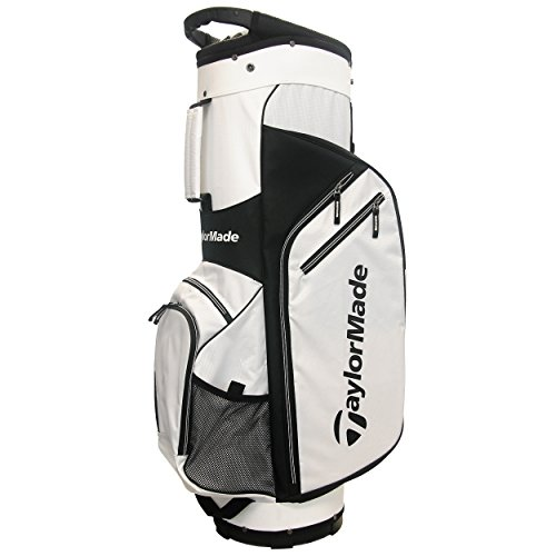 TaylorMade 2017 Golf Bag TM Cart Bag 5.0 WhtBlk, White/Black